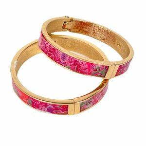 Cabi Jubilee Bangle Bracelets, Pink, Gold Tone